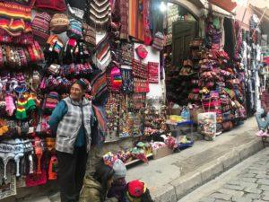 ボリビア民芸品市場