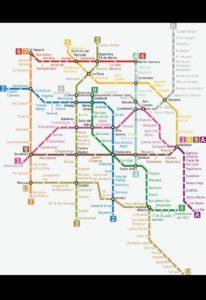 メキシコシティメトロ路線図