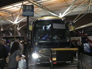 リマ行きバス